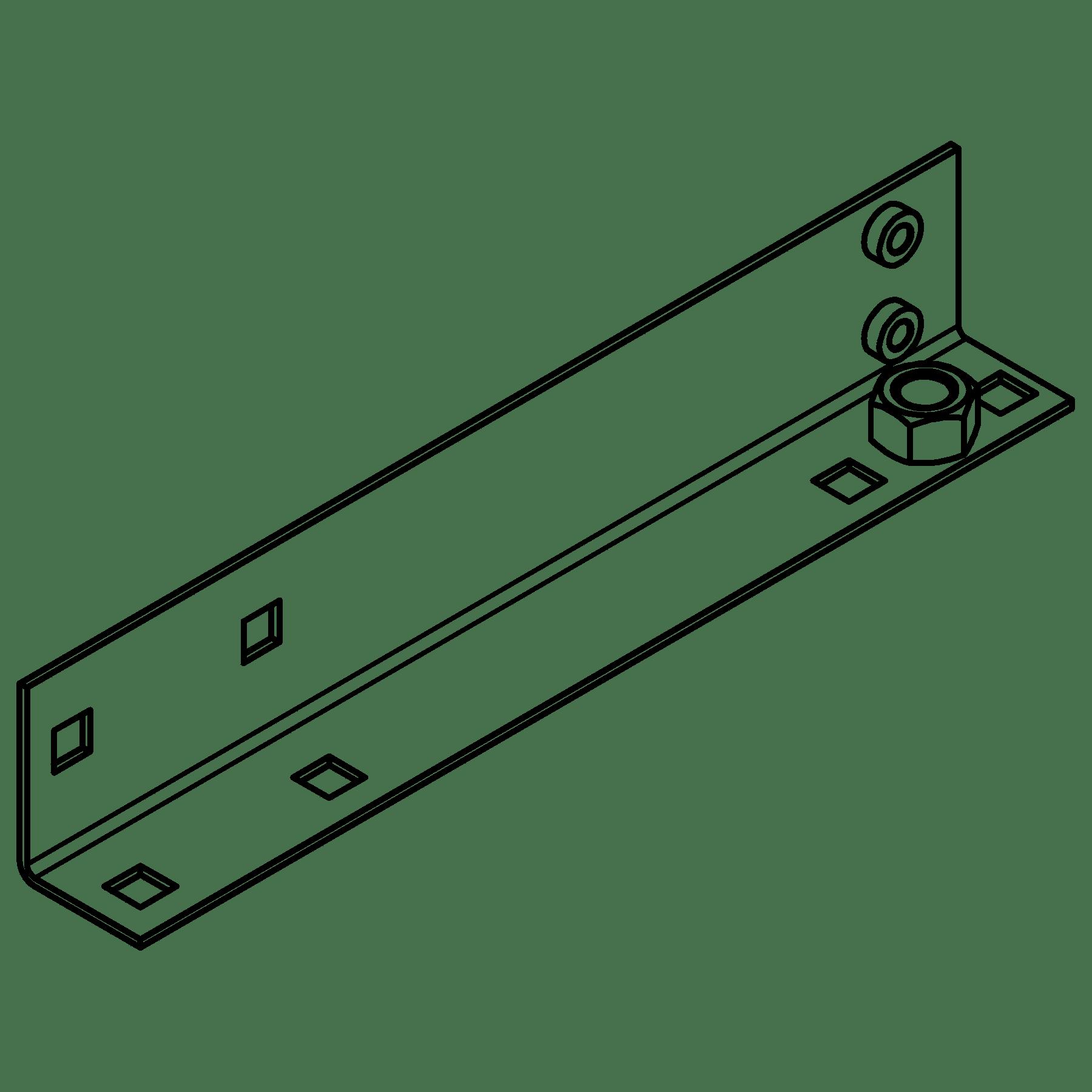 CA5650011 - MET L-BRACKET OPR5xx LEFT SIDE - BLACK