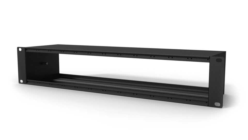 """CASY001 - CASY chassis 2 x 12 space - 19"""", 2HE mounting - 120mm depth"""