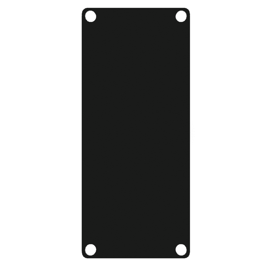 CASY 1 space closed aluminum blind plate