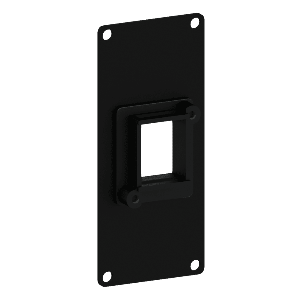 CASY106 - Casy 1 space cover plate - 1x  Keystone adapter