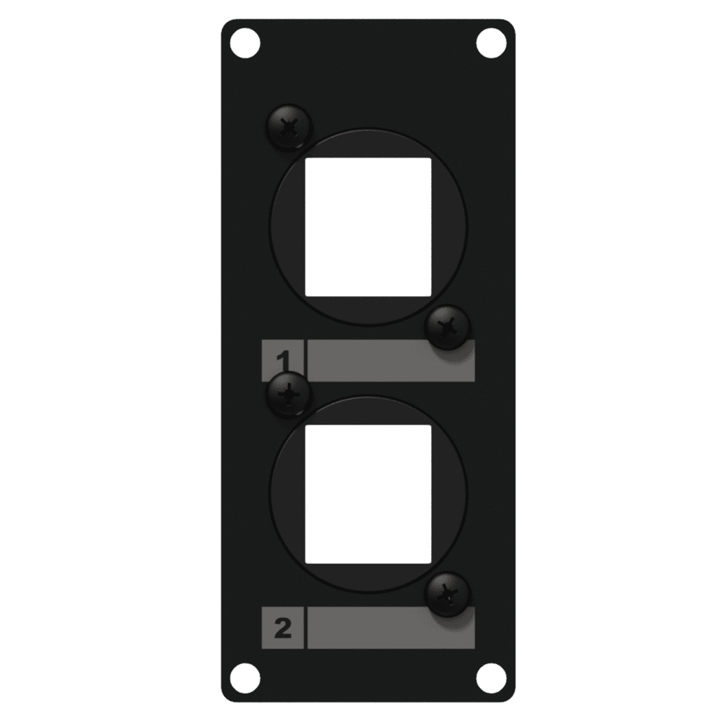 CASY107 - CASY 1 space cover plate - 2x Keystone adapter