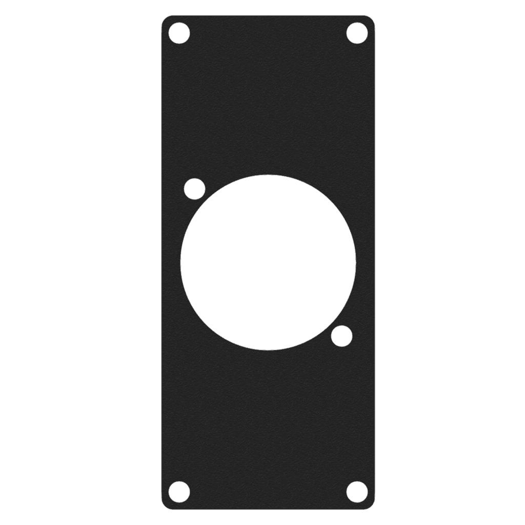 CASY108 - CASY 1 space cover plate - 1x powerCON TRUE1 outlet connector hole