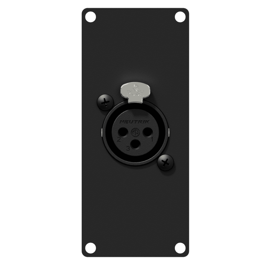 CASY121 - CASY 1 space with XLR female to 3-pin terminal block