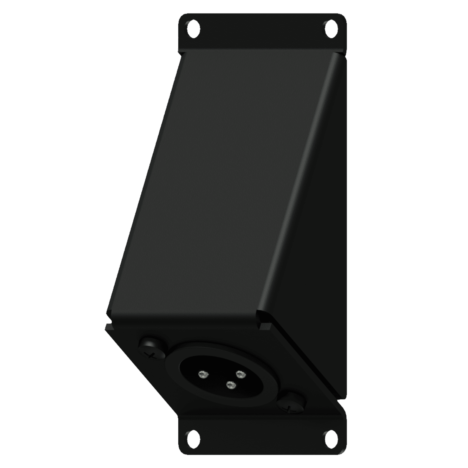 CASY124 - CASY 1 space angled with XLR male to 3-pin terminal block