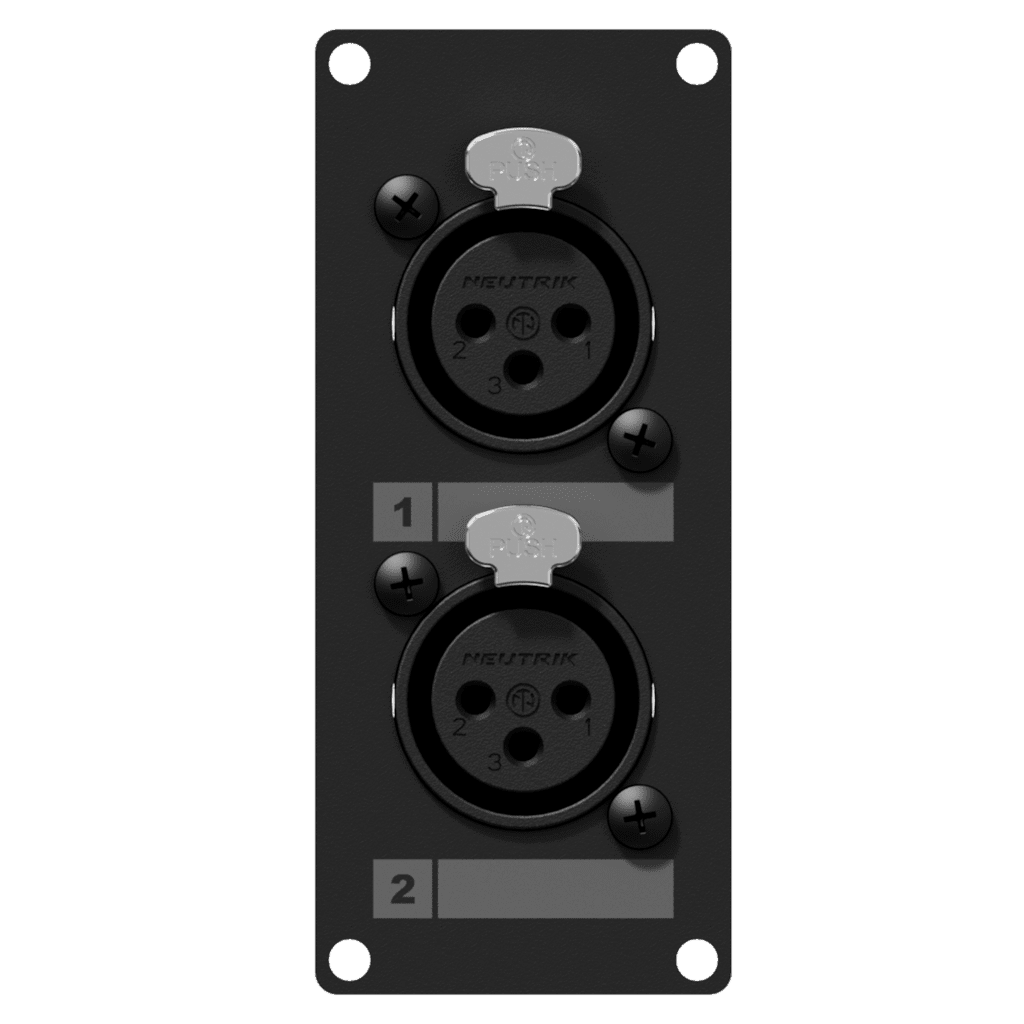 Casy 1 Space With 2 X Xlr Female To 3-pin TB - Black