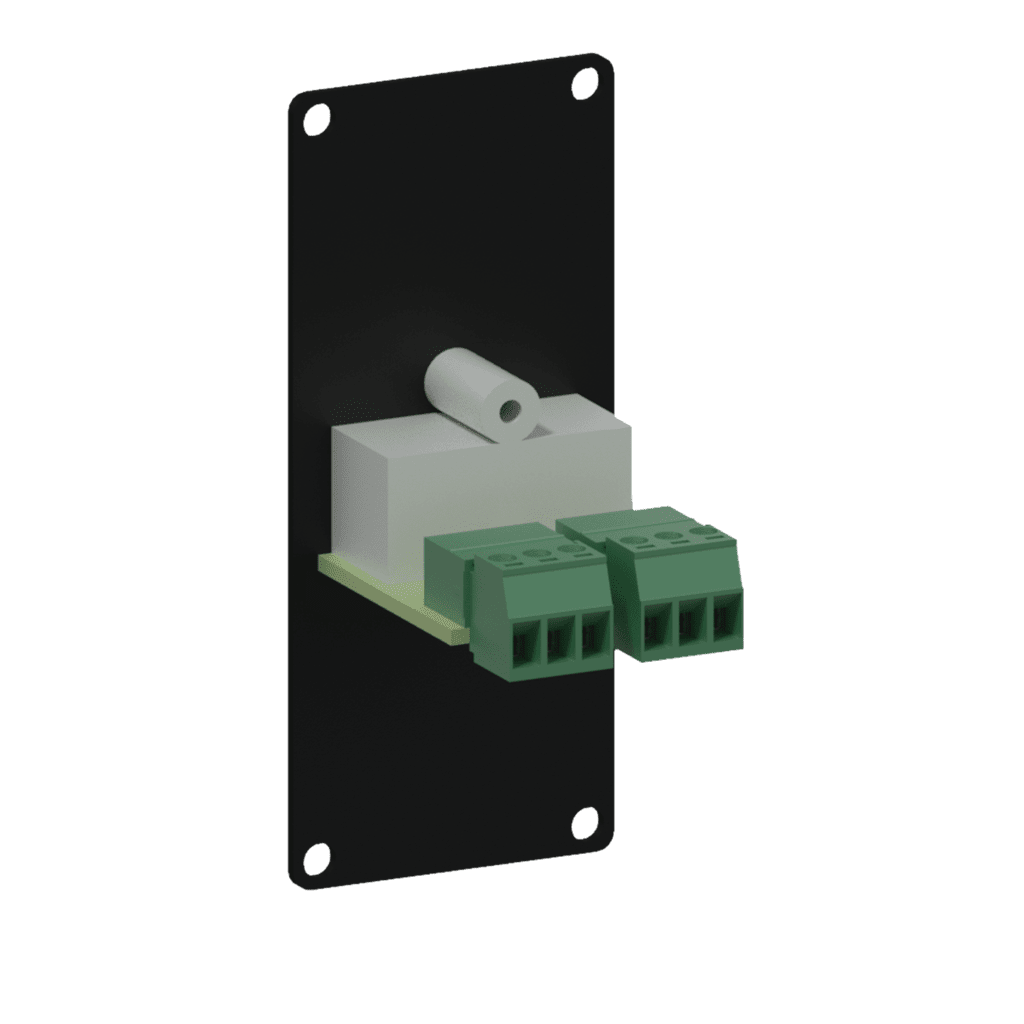 CASY132 - CASY 1 space with 2x RCA to 2-pin terminal block