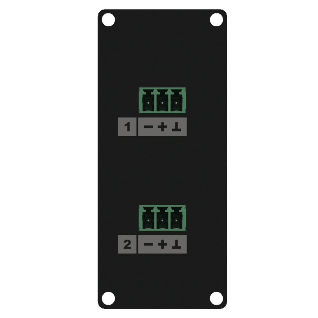 CASY138 - CASY 1 space with 2x 3-pin terminal block to 3-pin terminal block