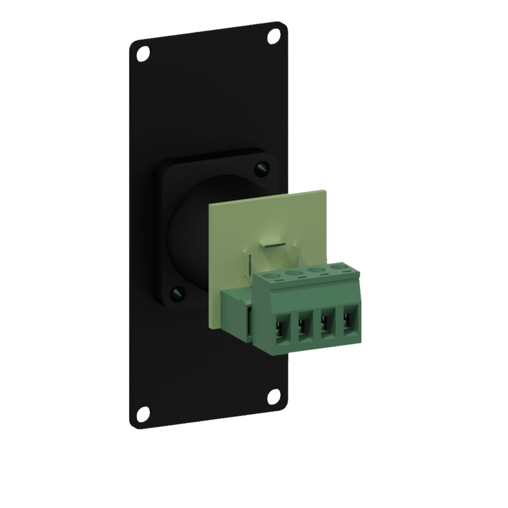 CASY141 - Casy 1 space with male SpeakON to 4-pin terminal block