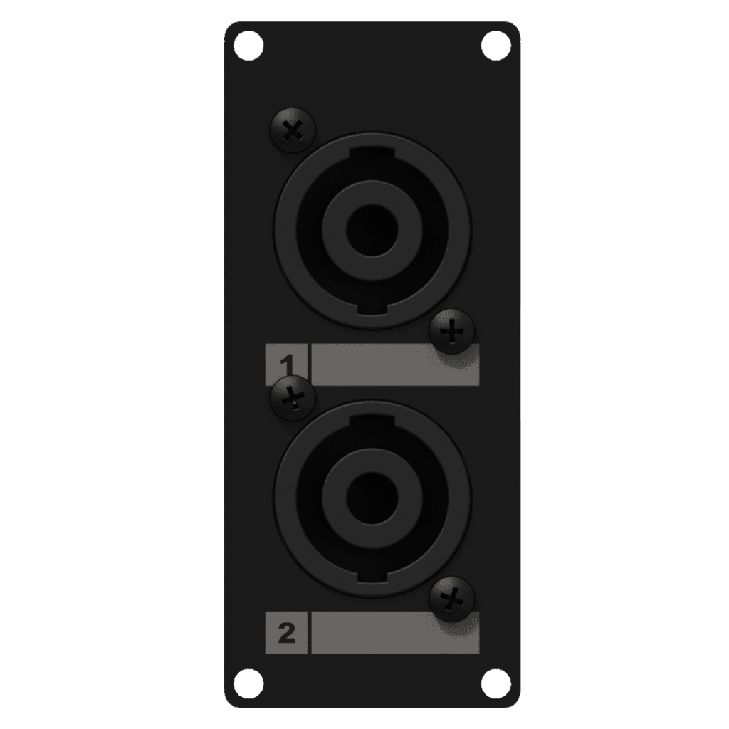 Casy 1 Space With 2 X Speakon To 4-pin TB - Black