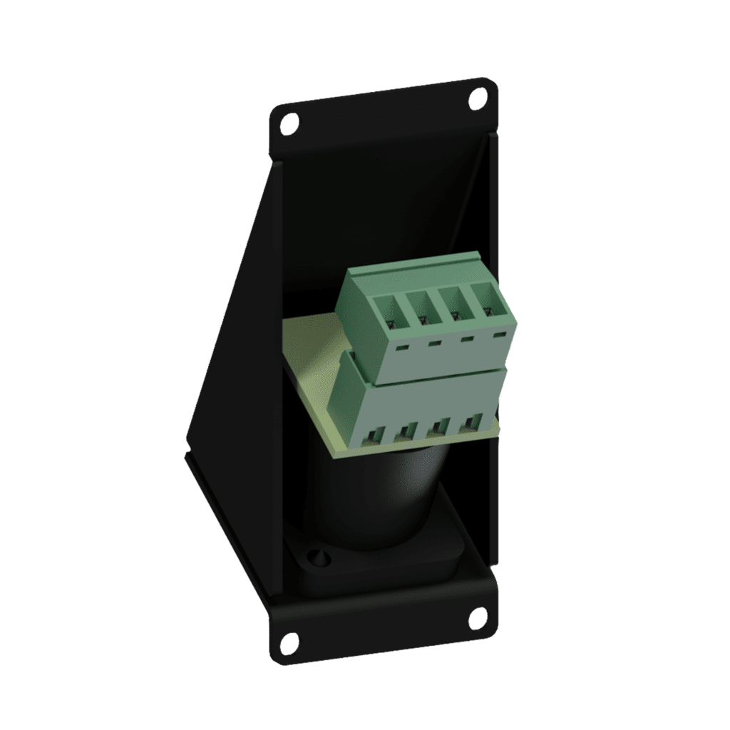 CASY143 - CASY 1 space angled with male SpeakON to 4-pin terminal block