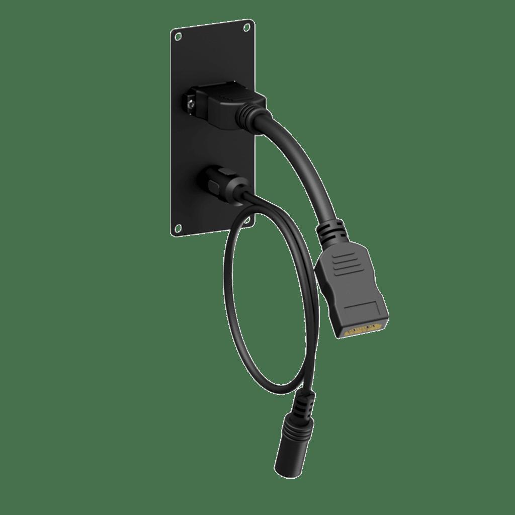 CASY152 - CASY 1 space HDMI & female 3.5mm jack