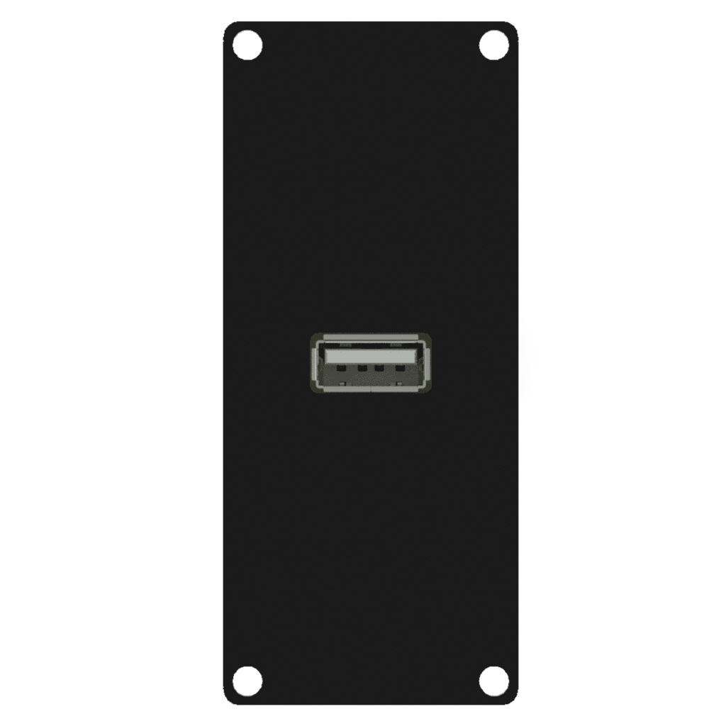 CASY162 - CASY 1 space USB 2.0 a to 4-pin terminal block
