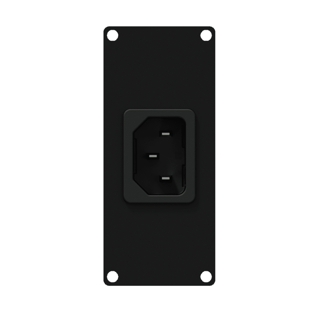 Casy 1 Space Euro Power Inlet Socket - Black
