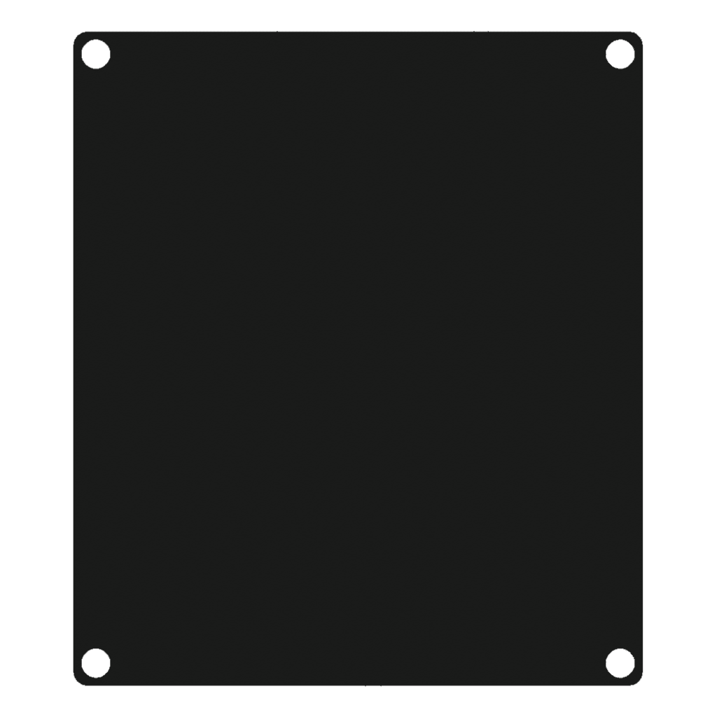CASY 2 space closed aluminum blind plate