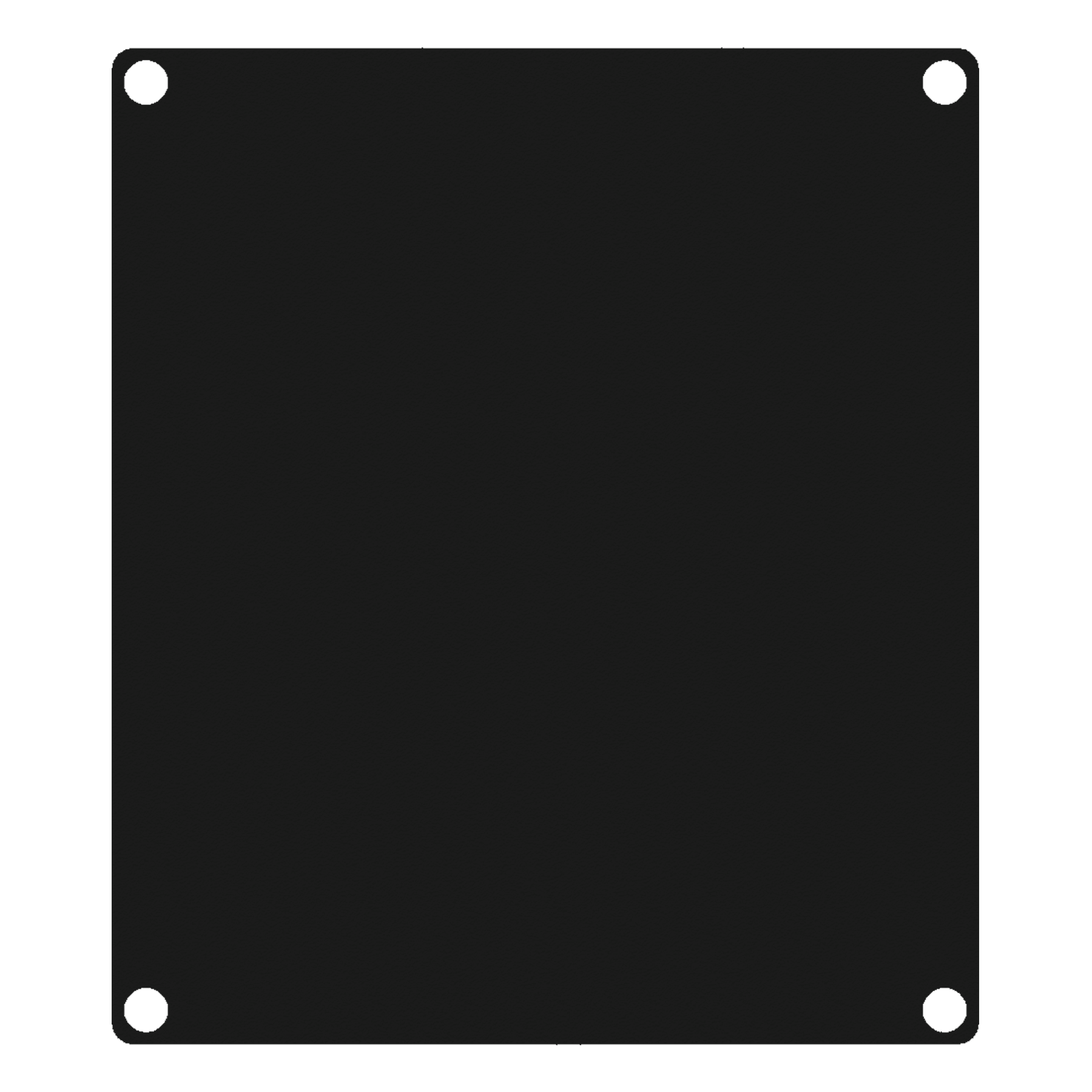 CASY201A - CASY 2 space closed aluminum blind plate