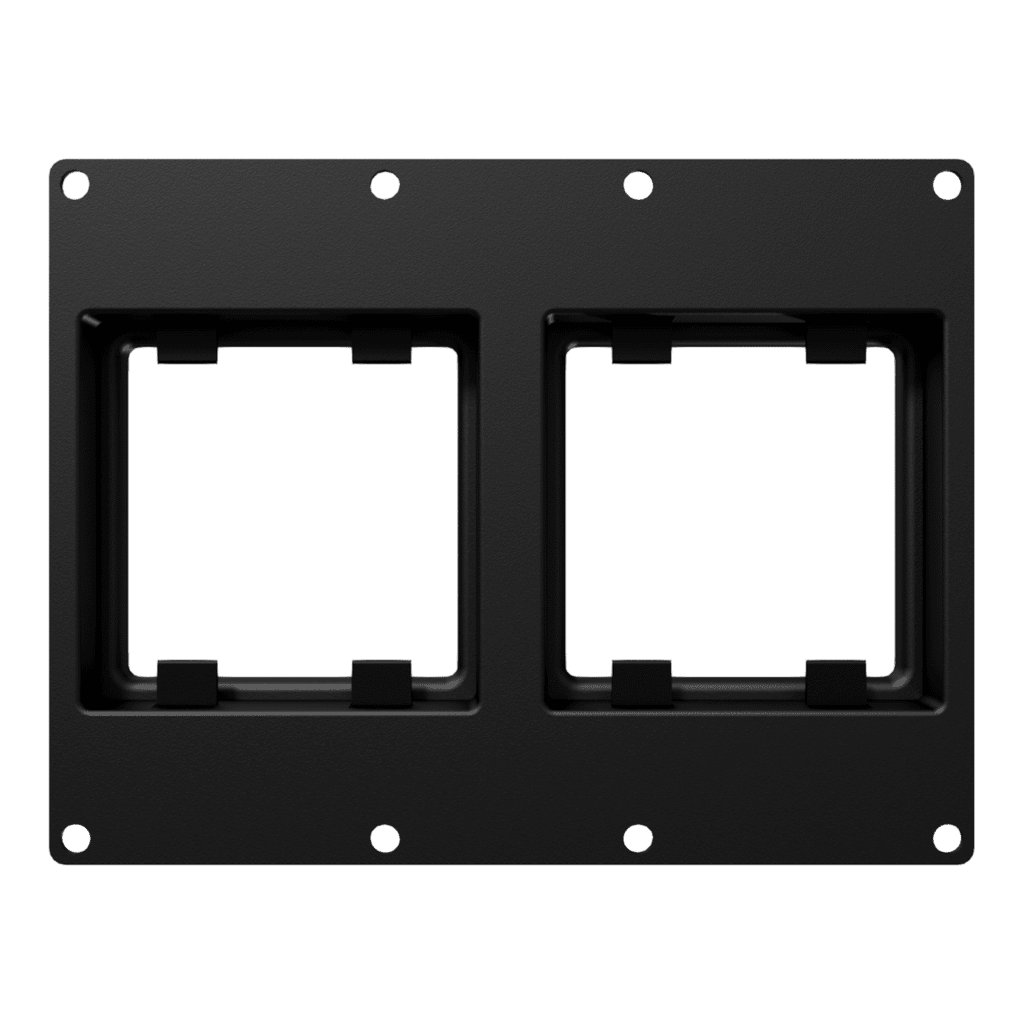 CASY 3 space double 45x45 mm module plate