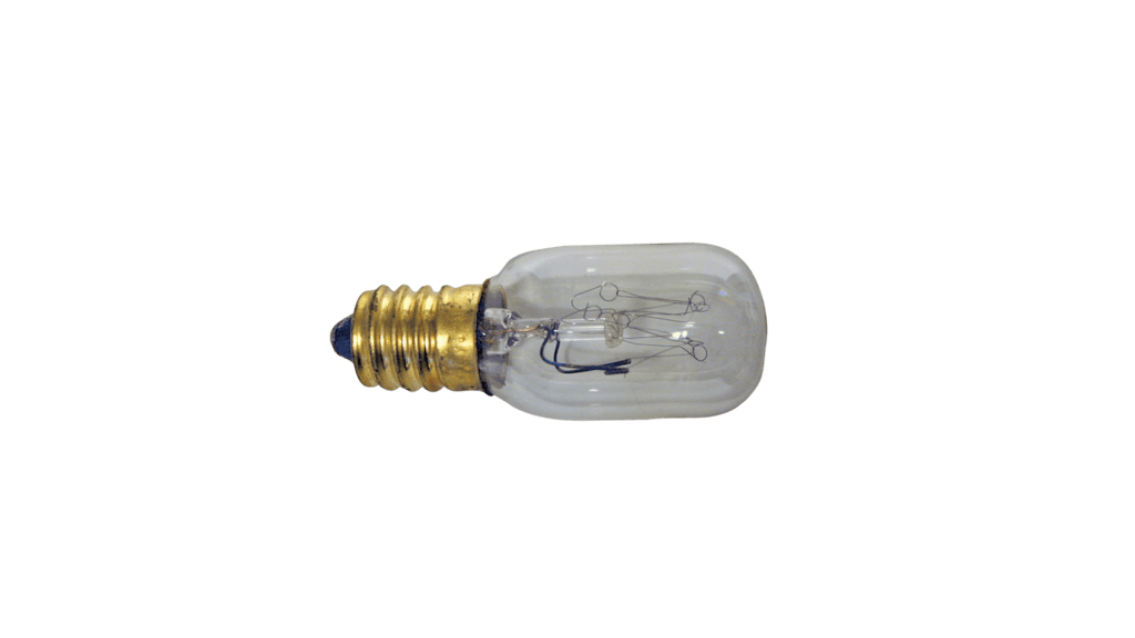 CST123 - Tubular bulb rating 25 watts for in-door use only.