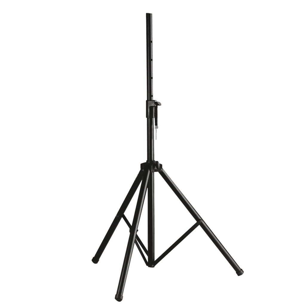 Standard speaker stand with blocking mechanism