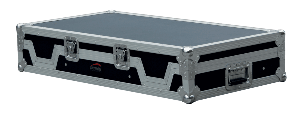 FCDJ2600 - Professional flight case for one mixer and 2 turntables with removable top lid
