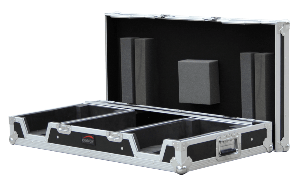 FCDJ2860 MKII - Professional flight case for one mixer and 2 single cd players - with removable top lid