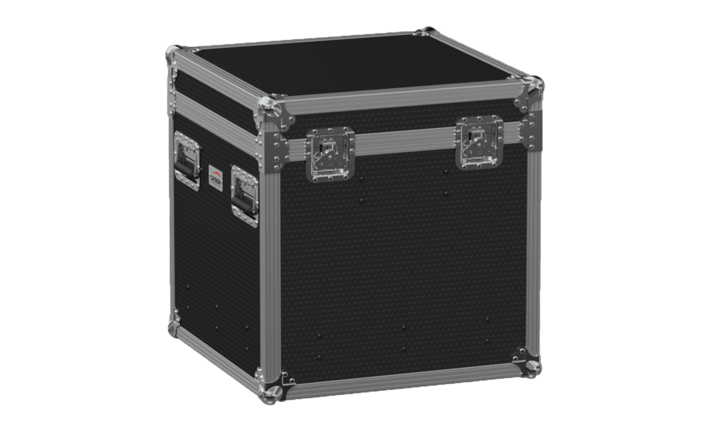 FCE066HD - Flightcase EURO with hinged cover and divider profile