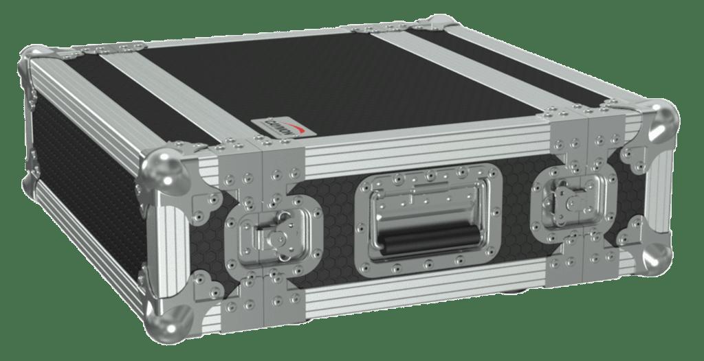 "FCMK103 - 19"" flightcase - 3HE - 337 mm depth with foam cover insert"