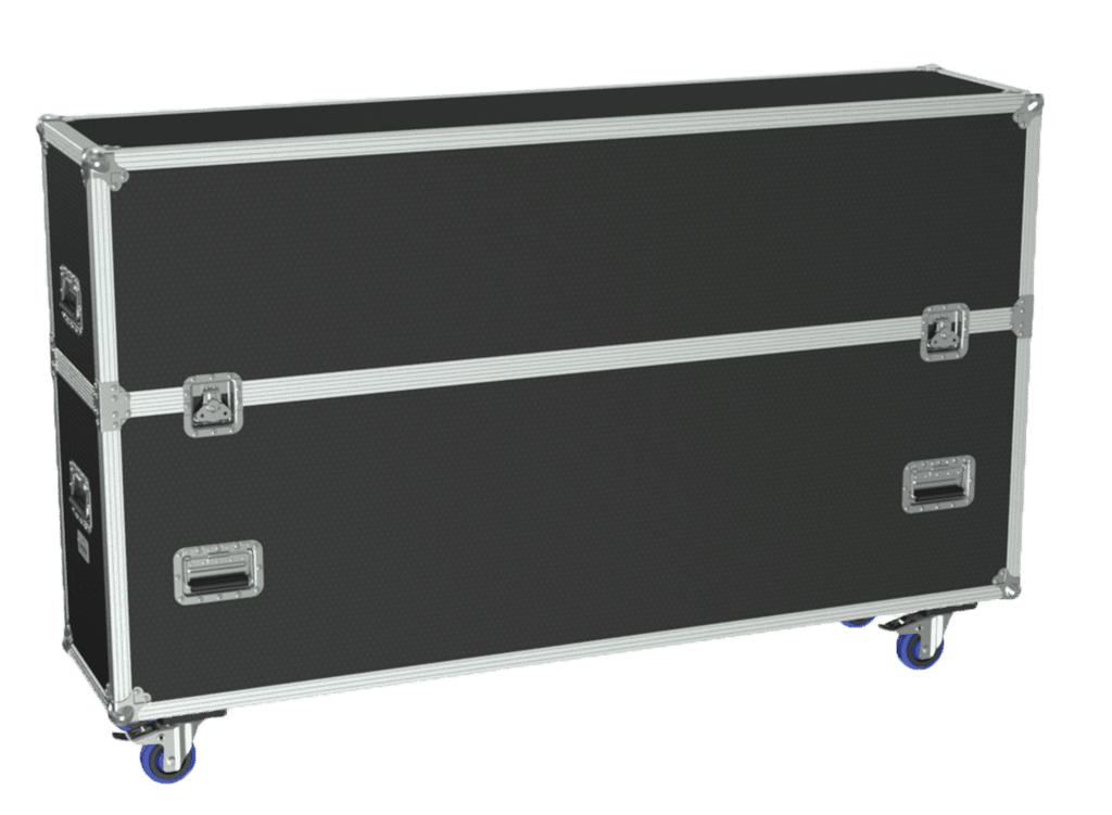 FCP610 - Flightcase for 2x flatscreen up to 70""