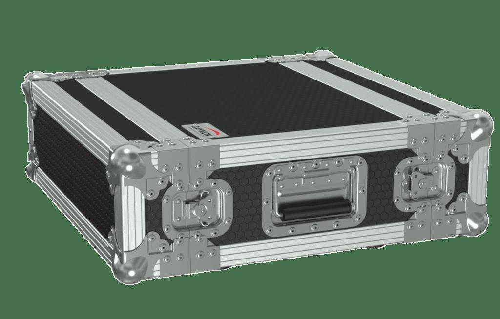 "FCX103 - 19"" flightcase - 3HE - 360mm depth - 19"" mounting profile on front & rear"