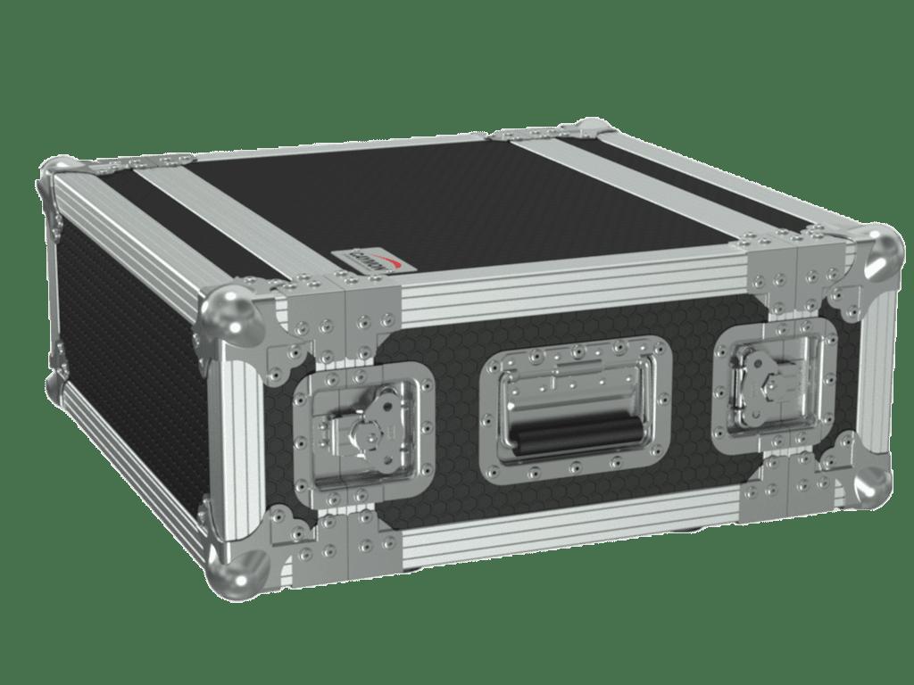 "FCX104 - 19"" flightcase - 4HE - 360mm depth - 19"" mounting profile on front & rear"
