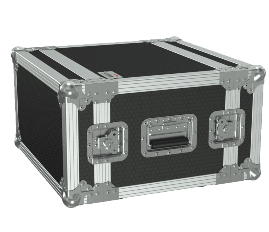 19in Flightcase - 6he - 360mm Depth - Black