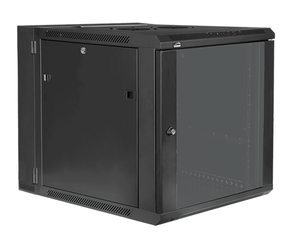 """HPR512 - Double section 19"""" wall mountable rack - 12 units - 550mm depth"""