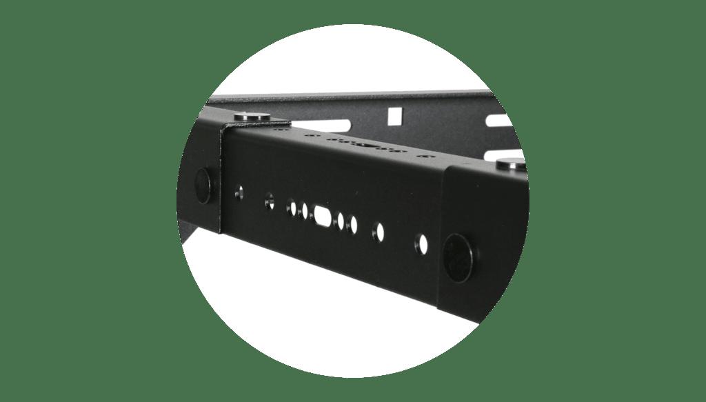 """OPR303A - 19"""" in depth adjustable open frame rack - 3 unit - 300 ~ 450mm"""