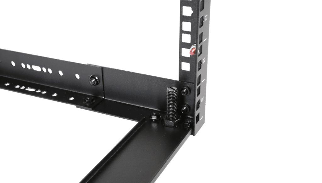 "OPR303A - 19"" in depth adjustable open frame rack - 3 unit - 300 ~ 450mm"