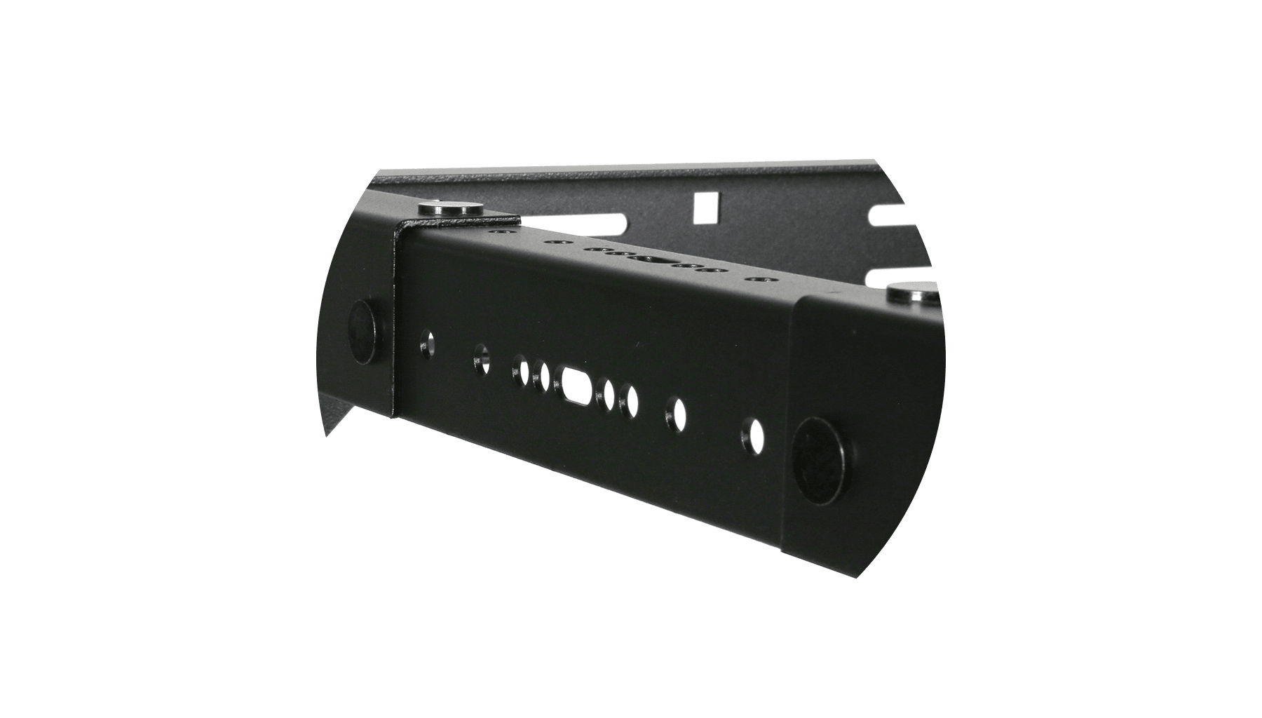 """OPR306A - 19"""" in depth adjustable open frame rack - 6 unit - 300 ~ 450mm"""
