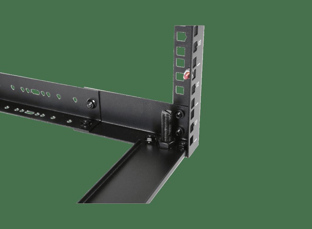 """OPR309A - 19"""" in depth adjustable open frame rack - 9 unit - 300 ~ 450mm"""