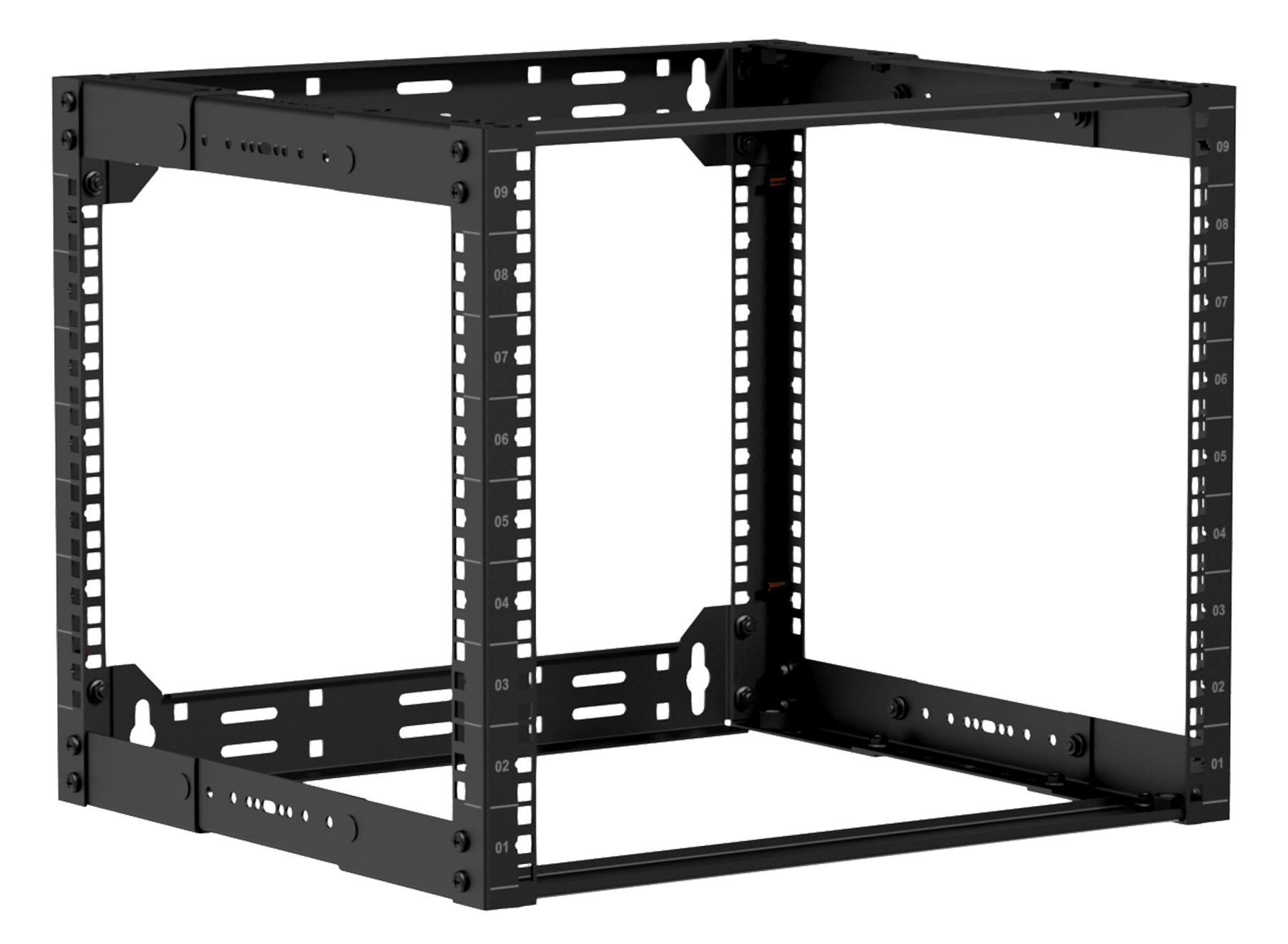 "OPR309A - 19"" in depth adjustable open frame rack - 9 unit - 300 ~ 450mm"