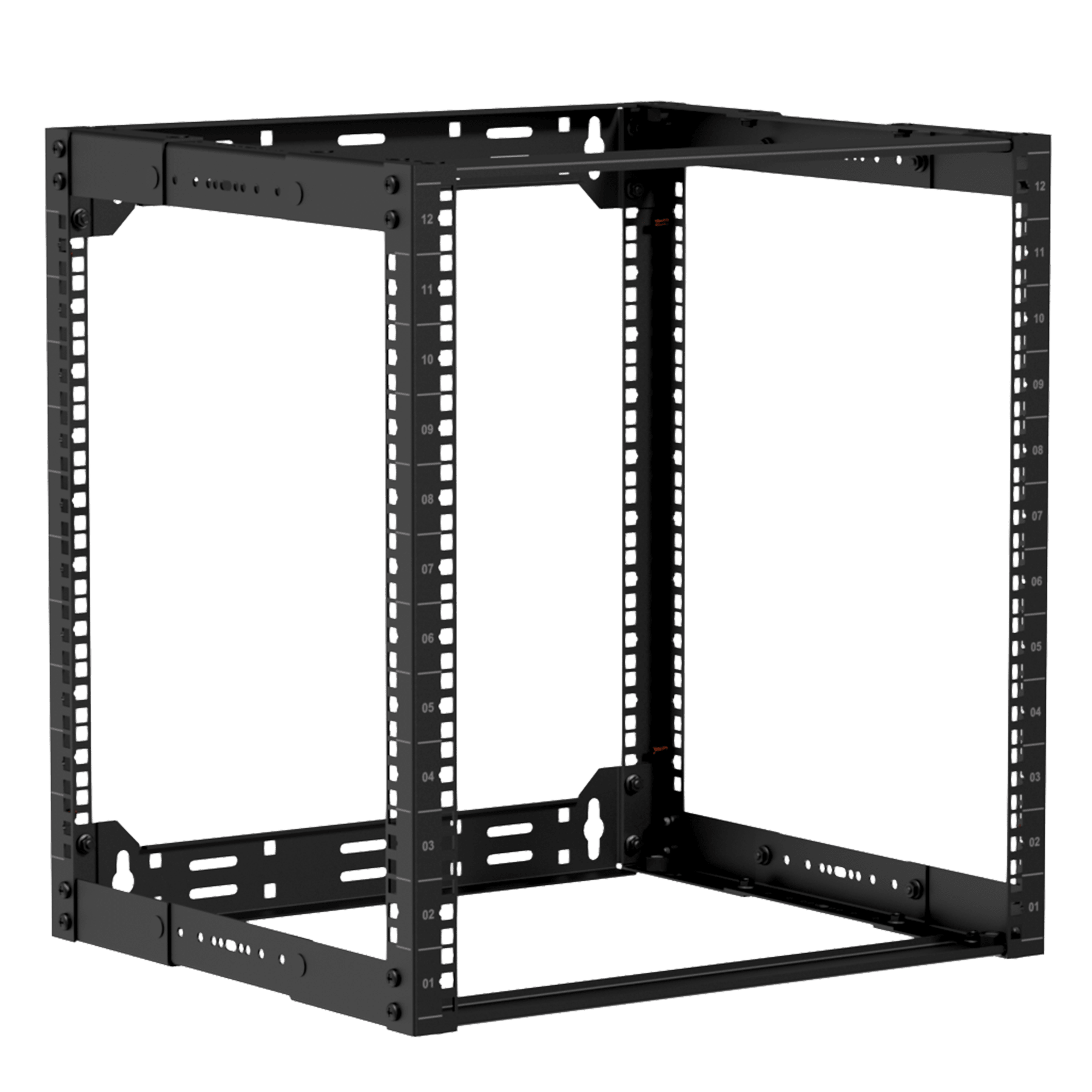 "OPR312A - 19"" in depth adjustable open frame rack - 12 unit - 300 ~ 450mm"
