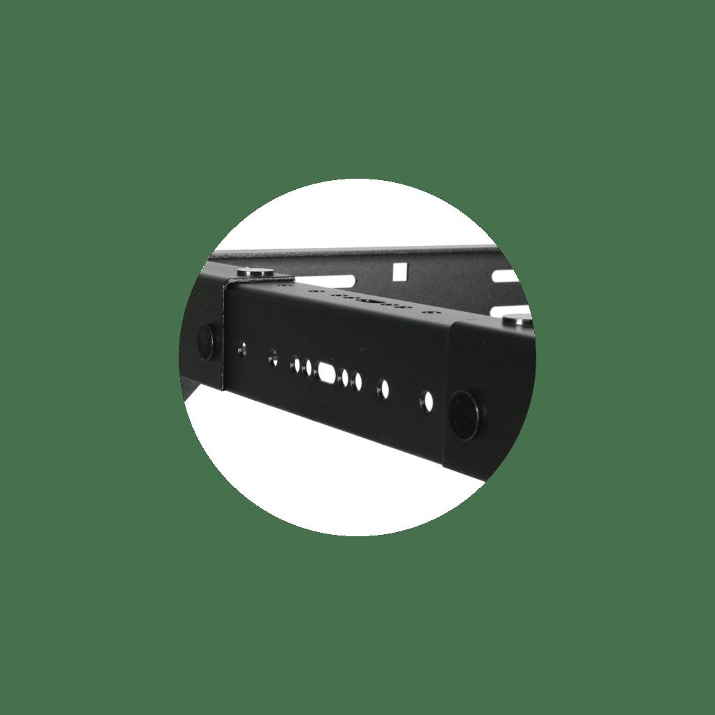 """OPR318A - 19"""" in depth adjustable open frame rack - 18 unit - 300 ~ 450mm"""