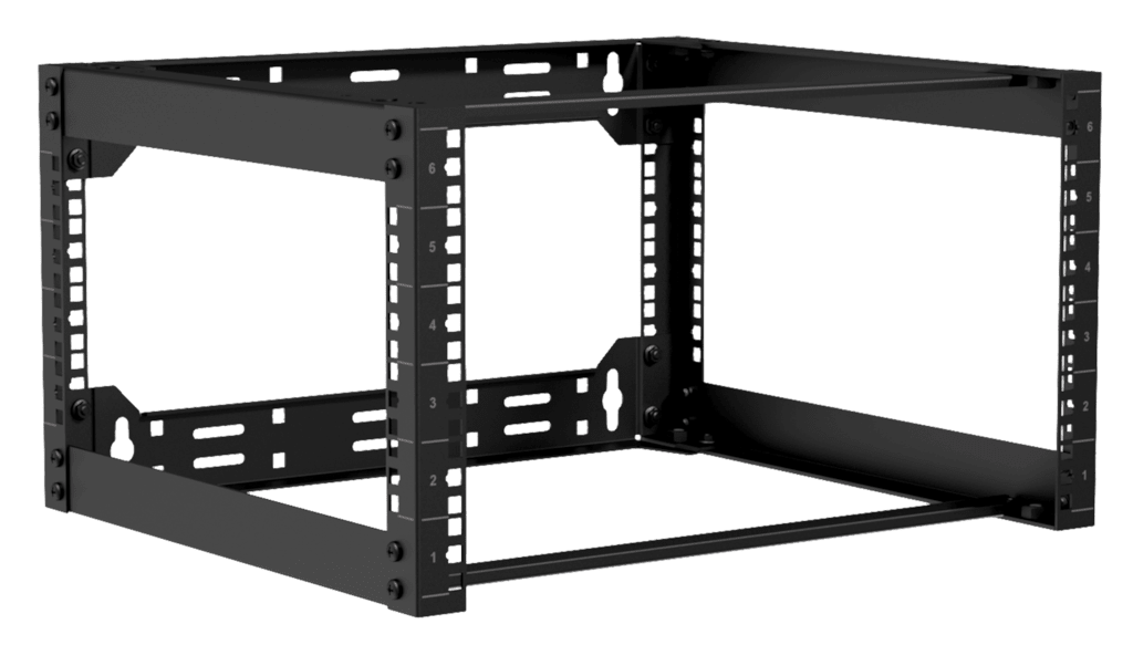 "OPR406 - Wall mounted 19"" open frame rack - 6 unit - 450mm"