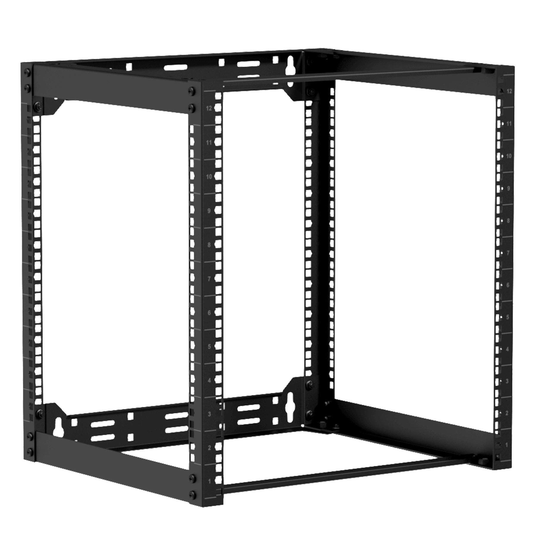 "OPR412 - Wall mounted 19"" open frame rack - 12 unit - 450mm"