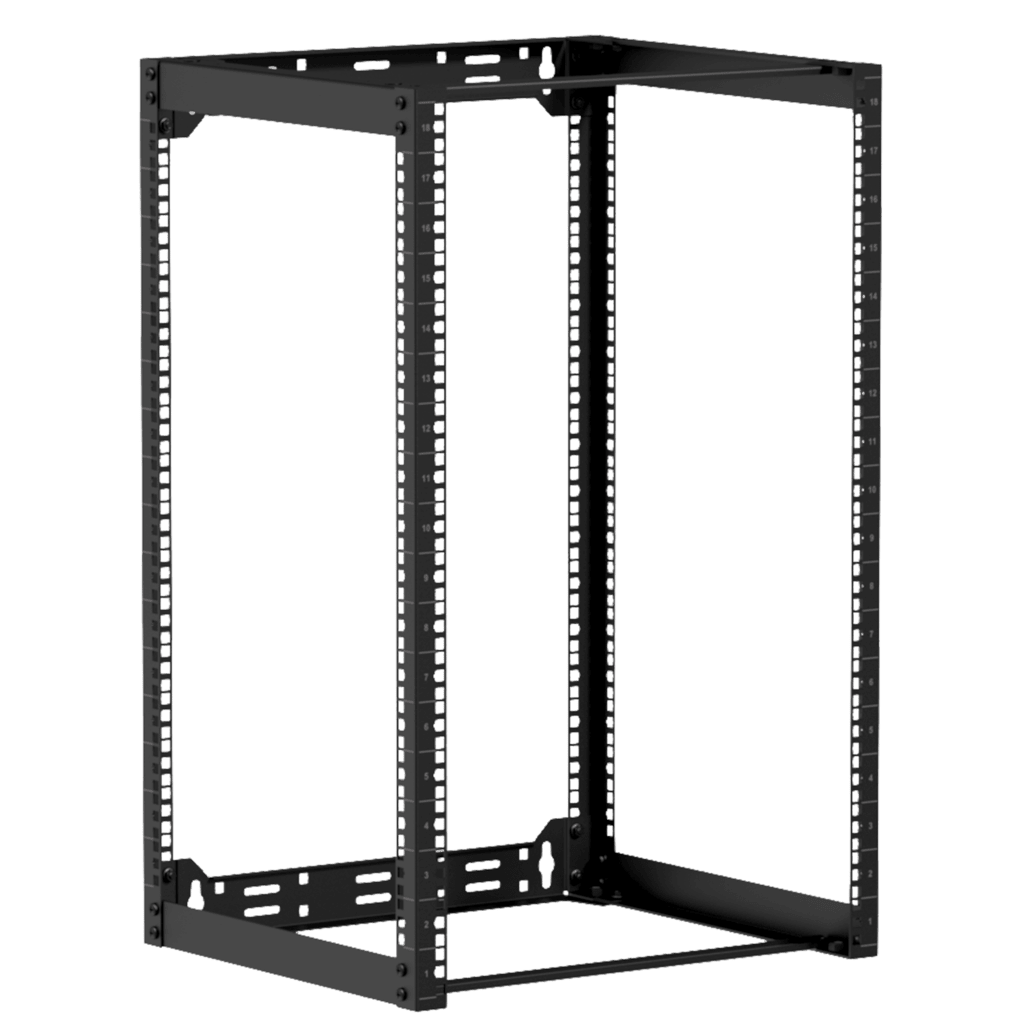 "OPR418 - Wall mounted 19"" open frame rack - 18 unit - 450mm"
