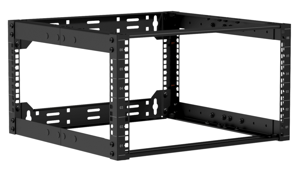 "OPR506A - 19"" in depth adjustable open frame rack - 6 unit - 500 ~ 800mm"