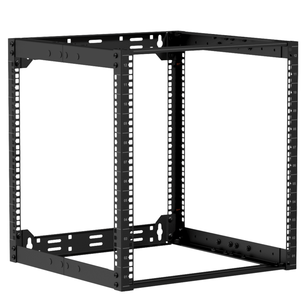 "OPR512A - 19"" in depth adjustable open frame rack - 12 unit - 500 ~ 800mm"