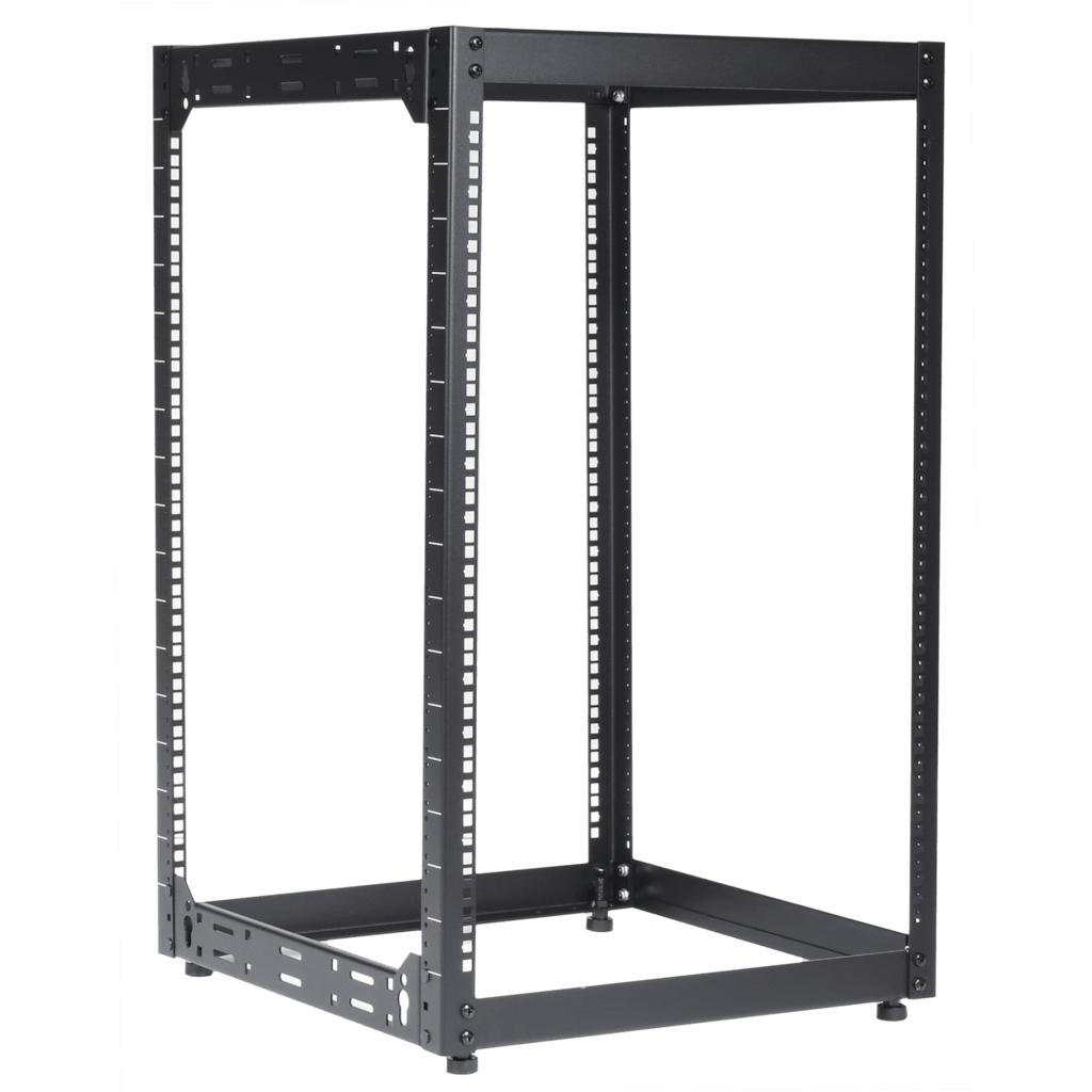 "OPR518 - 19"" open frame rack - 18 units - 500 mm depth"