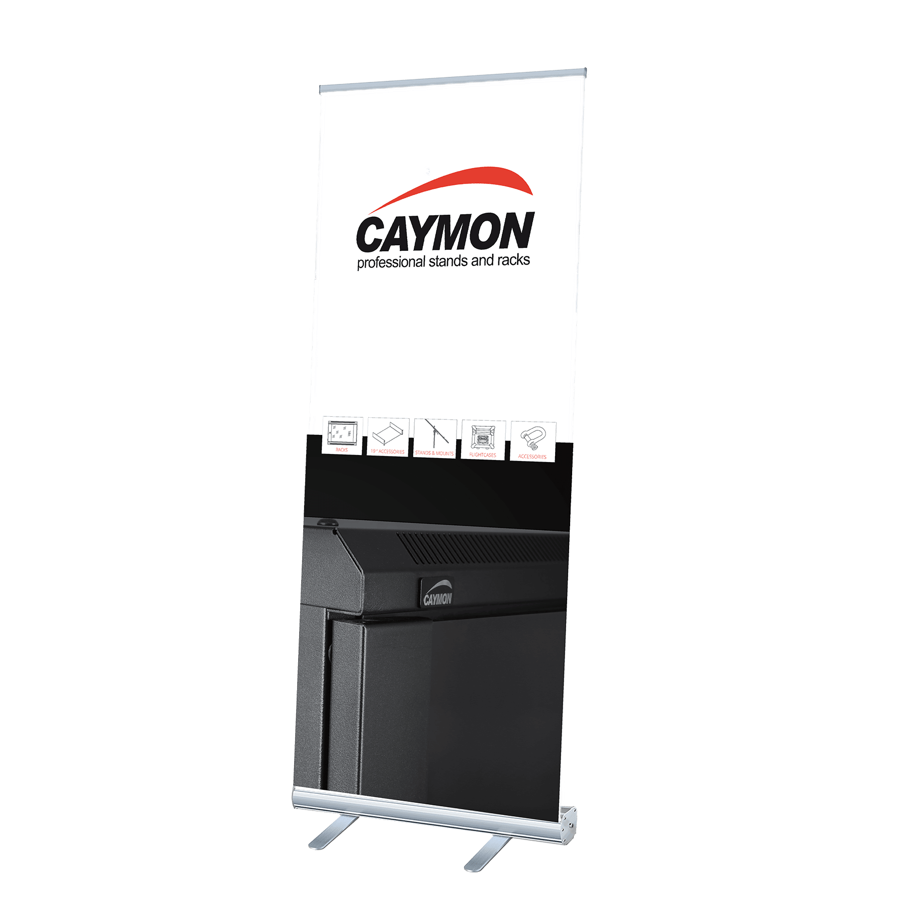 PROMO4092 - CAYMON roll-up display stand  200 x 85 cm