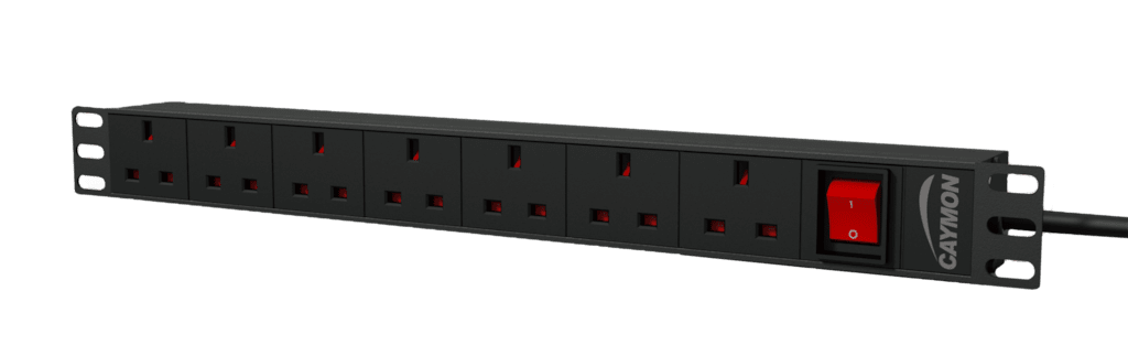 "PSR107UKS - 19"" power distribution unit - 7x UK sockets + front switch"