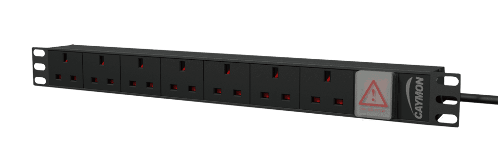 "PSR107UKS - 19"" power distribution unit - 7x UK socket + front switch"