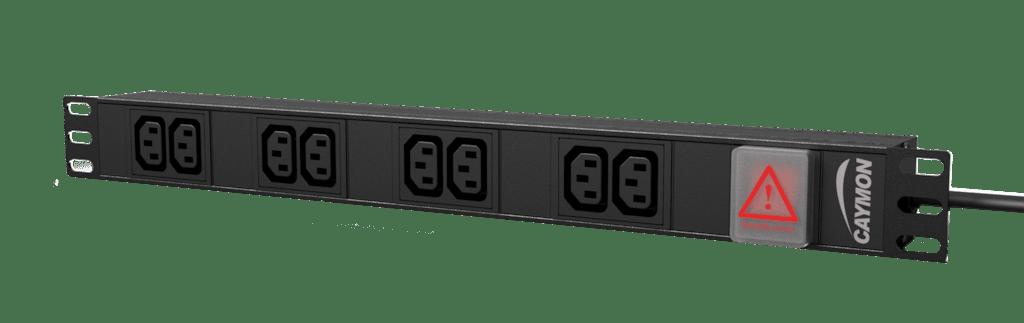 """PSR108ES - 19"""" power distribution unit - 8x IEC C13 socket + front switch"""