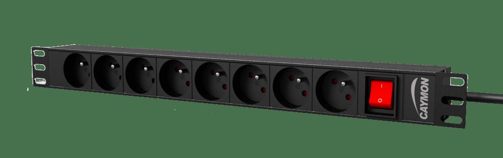 "PSR108FS - 19"" power distribution unit - 8x French socket + front switch"