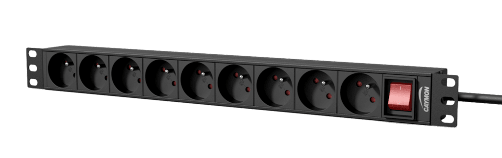 "PSR109FS - 19"" power distribution unit - 9 x French sockets + front switch"